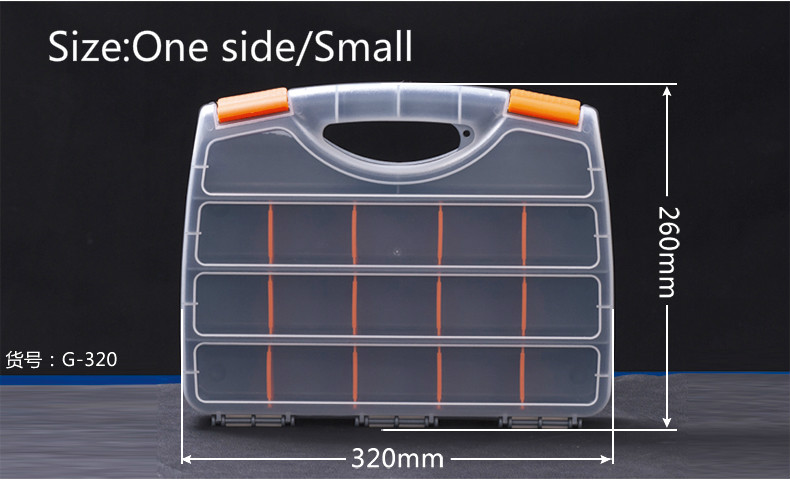 Screw Box Tool Box Plastic Parts Box Of The Electronic Element Box Sample Classification Storage One Side/Small<br><br>Aliexpress