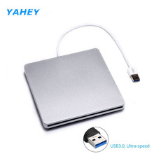 USB 3.0 Slot Loading External DVD RW Burner Optical Drive CD ROM Player Writer Superdrive for Apple Macbook Air Pro Laptop(China)