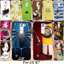 Silicone Plastic Phone Case For LG K7 LTE Tribute 5 LS675 Q7 LTE MS330 5'' K7 Dual SIM K7 M1 Cover Minions Alice Shell Housing