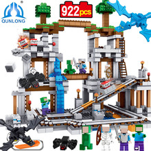 Buy Minecrafted MY WORLD Mine 922pcs Building Blocks Set Bricks Action Figure Toys Children Compatible Legoe Minecraft Model for $52.84 in AliExpress store