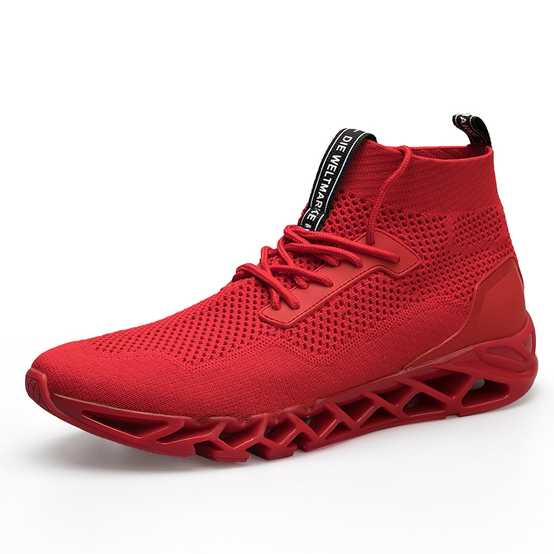 SWYIVY sneakers men high top breathable 2018 hip hop male socks shoes comfortable light weight solid color male sneakers 45