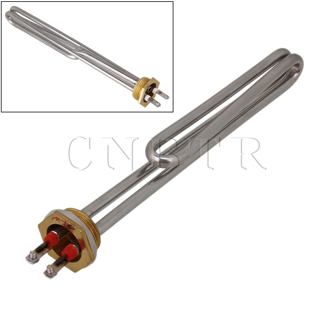 CNBTR 220V 3000W Silver Tubular Water Heater Electrical Element Stainless Steel Tube<br><br>Aliexpress