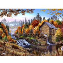 DIY oil painting by numbers canvas picture adult coloring paint acrylic painting calligraphy by number wall decor landscape Y067(China)