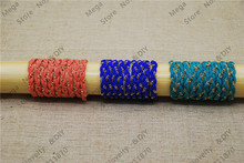 Top Multi Color 5mm Flat Faux Suede Braided Cord Leather Chian Rope 10meters/pcs DIY Cords Jewelry Findings ds235(China)