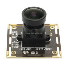 2.0 Megapixel 1080P H.264 Wide Angle 170degree Fisheye Lens Sony IMX322 UVC Low Light Industrial USB Web cam Module Camera(China)