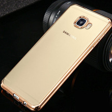 For Samsung A5 2017 Case Clear Transparent Gold Plating Rubber Soft TPU Back Cover for Samsung Galaxy A5 2015 2016 2017 Silicon