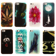 Soft TPU Phone Cases For Apple iPhone SE iPhone 5SE iphone55s iPhone 5 5S 5G 55S Back Cover Cool Cute DIY Painted IMD
