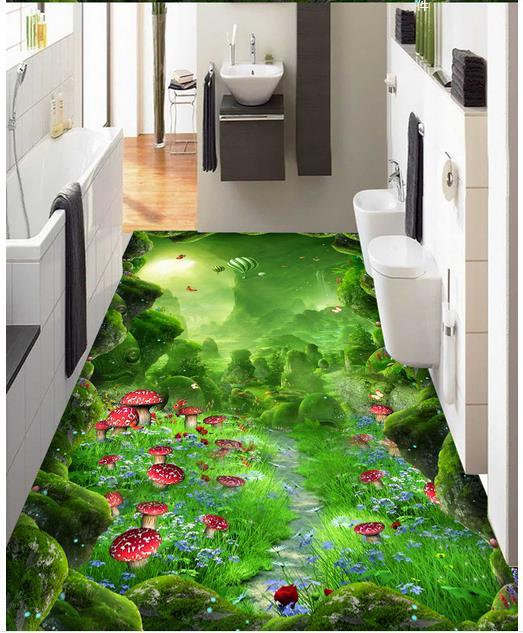 3d wallpaper custom 3d flooring painting wallpaper murals Forest dream lane 3 d floor to stick living room photo wallpaper<br>