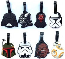 10 Pack Star Wars luggage tap toy 2016 New Force Awaken BB8 droid boba fett chewbacca Darth Vador Trooper Yoda bag decoration(China)