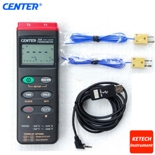CENTER306 K Type/Dual Input/Datalogger/PC Digital Thermometer(China)