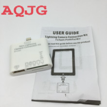 5 in1 Card Reader Adapter USB Camera Connection Kit SD TF HC M2 Lighting Adapter For iPad 4 / iPad Mini support IOS 6.0.1 below