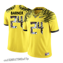 Free shipping New style Nike 2017 Oregon Ducks Kiko Alonso 47 Boxing Jersey Basketballly Jersey Kenjon Barner 24 Yellow(China)