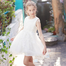 Summer Brand Baby Girl Lace Wedding Dress Children Kids Dresses For Girls Evening Party Wear Little Girl Dress Up For Dinner 8T