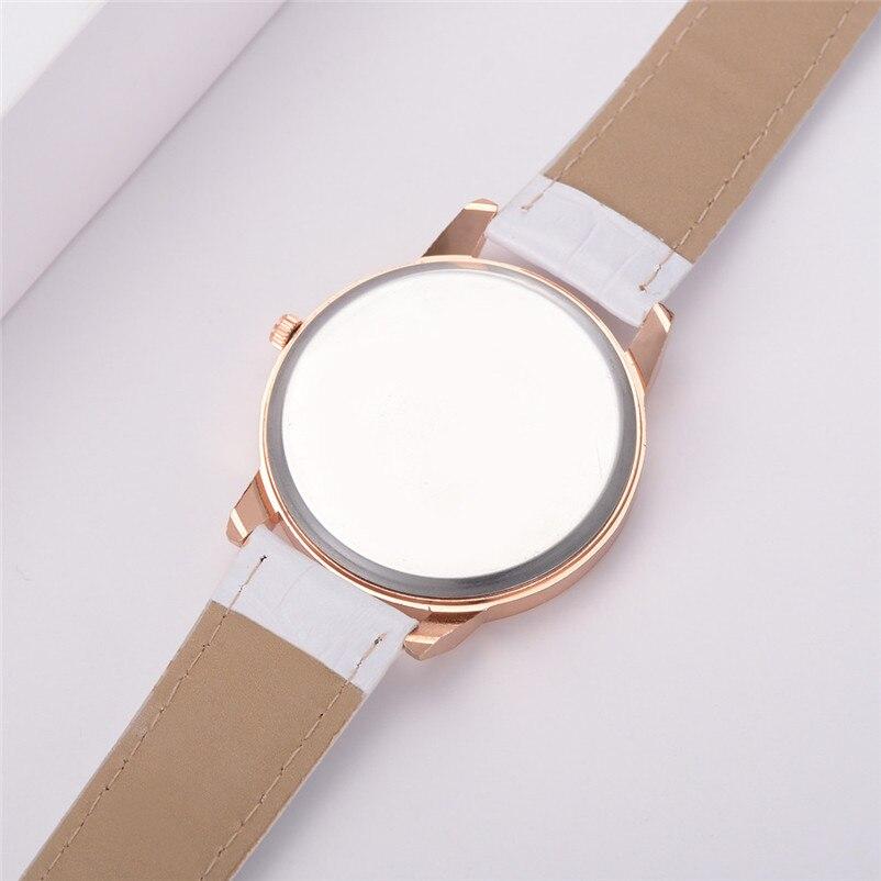 2018 High Quality women fashion casual watch luxury dress ladies  Analog Quartz Leather bands Wrist Watch clock Relogio Y11 (6)