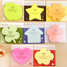 1PC Random Type Cute and Kawai Originality Shape pattern Sticker Sticky notes sticky notes Bookmark Mark Memo Flag Sticky Notes(China)