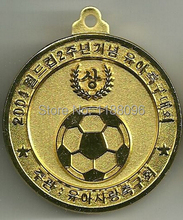 Wholesale Large Golden Sports Soccer Medallion Challenge Coin cheap custom football medals hot sales sport medals