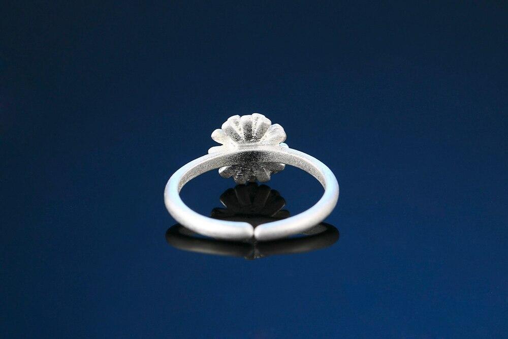 02003 Antique Style Bronze Tone Alloy Circle Flower Charm Pendant Finding 6pcs