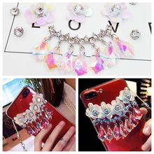 Muti-color Crystal Stickers for Phones with Flower Summer Decoration Gem Pendant DIY Accessories/Adornment/Charms for Women/Girl
