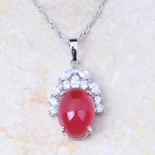 2017 New arrival Women Jewelry Pomegranate Rose Red Zircon Crystal Pendant Gold Colour Pendant for Women Gifts D026(China)