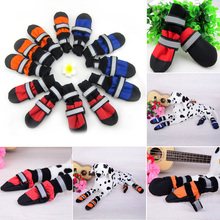4 pcs/set Dog Boots Guardian Gear Water Repellent All Weather Protective Booties Shoes Pet