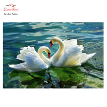 Home beauty 3D Diy Full Diamond Painting Embroidery Kits Crystal Rhinestone Picture Diamond Mosaic Swan Love Gift Craft