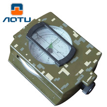 AOTU Multifunction Waterproof Survival Military Compass Army Pocket Lensatic Compass Handheld Hiking Camping Outdoor Equipment