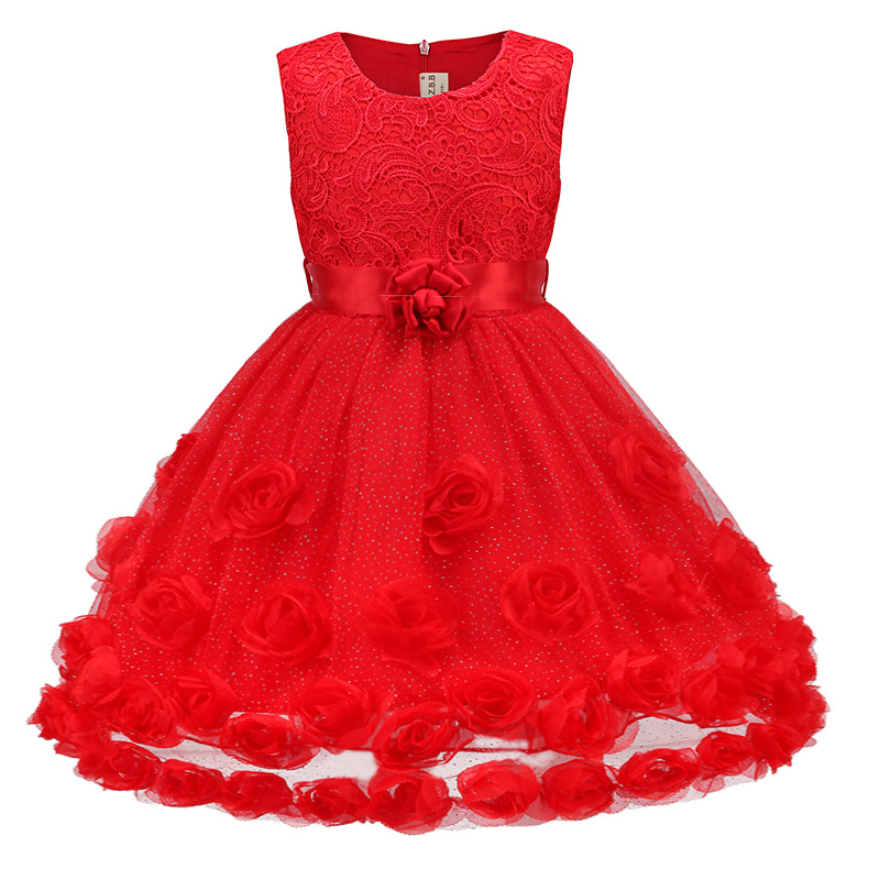 3-9T Red Flower Girl Dress 2017 High Quality Baby Girl Kids Princess Dress Girls Next* Kids Girls Kids Dress Prom<br><br>Aliexpress
