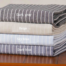 Fashion Simple, Linen Striped Table Cloth Washable Striped Table Cloth For Cafe And Club 1pcs
