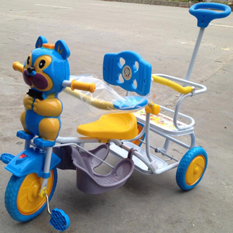 high quality cartoon music double seat  twins trolley tricycle,twins bike<br><br>Aliexpress