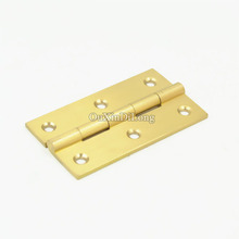 High Quality 4PCS 3Inch Solid Brass Cupboard Cabinet Door Folding Butt Hinges Drawer Hinge Furniture Accessories