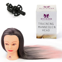 Salon Practice 26 Inch Professional Traning Heads Splicing Color Hairdressing Mannequin Manikin Model Head With Clamp(China)