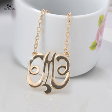Garland Gold Yellow Three Word Simple Flower Single Layer Wild Necklace Ladies Party Charm Gift Jewelry Wholesale 9#