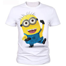 Summer clothes men tshirt despicable minions t shirt 3d print cartoon character t-shirts tee tops can be customized 2-20#(China)