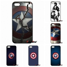 Stereo Relief Cute Cartoon Captain America Phone Case For iPhone 4 4S 5 5C SE 6 6S 7 Plus Galaxy J5 J3 A5 A3 2016 S5 S7 S6 Edge