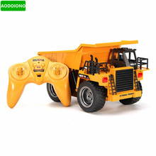 Remote Control Toys RC Metal Dump Truck RTR Six Channel 6CH 1/12 40HMZ with Charging Battery(China)