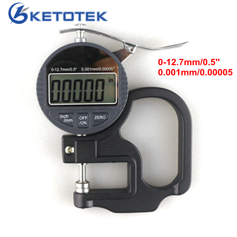 Micrometer 0.001mm 0-12.7mm Electronic Thickness Gauge Digital Depth Micrometer Indicator Mikrometer Micrometro <br>