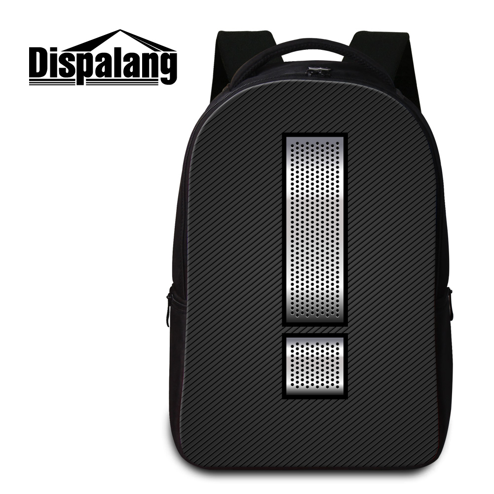 Dispalang large capacity students school book bags 3D number printing rucksack for women mens laptop backpacks mochilas retail<br>