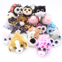 Limit Sale 1pcs Ty Beanie Boos Original Big Eyes 8cm TSUM TSUM Dog Cats Pigs Pets Plush Animal Dolls & Accessories Stuffed Toys