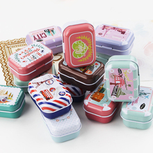 European Style Tin Box For Tea Pill 16Piece/Lot Cute Food Storage Box Handmade Craft Mac Makeup Cosmetic Organizer Best Gift