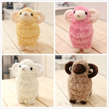 25-50cm 4 Colors Hot Sale New Goat Lamb White Pink Sheep Plush Toys Sheep Doll Xmas Kid Baby Gift Good Quality Soft Free Shippin(China)