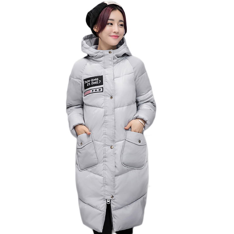 High Quality 2017 New Winter Jacket Women Long Loose Casual Female Cotton-padded Thick Warm Coat Ladies Outwear Overcoat CM1640Îäåæäà è àêñåññóàðû<br><br>