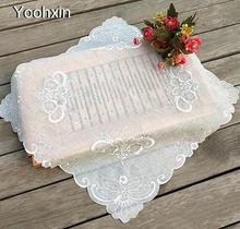 58CM Luxury lace embroidery table place mat cloth placemat pad glass coaster dining coffee cup doily drink mug holder kitchen(China)