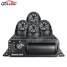 Free Shipping 4 Pcs Bus Truck Camera Mobile Dvr Kit, H.264 4CH Video/Audio Input RCA Digital Video Recorder Car Dvr I/O G-sensor