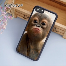 MaiYaCa Adorable Chimpanzee Monkey Baby fashion soft mobile cell Phone Case Cover For iPhone 5 5S SE Custom DIY cases luxury(China)
