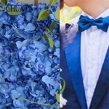 3pcs/lot wedding hydrangea silk flower atificial flower bouquet DIY led flower wall 15cm/pcs 20 colors  choose