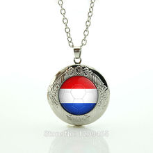 Dress accessories locket pendant necklace choker statement Necklace Personalized gift for men Netherlands football team logoN510