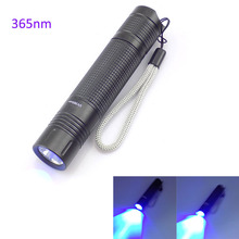Led UV flashlight 365nm Purple Ultra Violet Flash light torch AA battery Torch Lamp Blacklight for Money Cash Checker Detection
