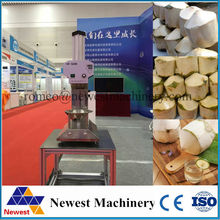 NT-3 model green coconut peeler on sale/big capacity young coconut peeling machine 220v/110v/free ship coconut trimming machine