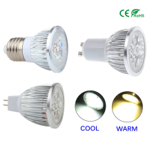 Lampada Led Spotlight E27 GU10 GU5.3 Spotlight 9W 12W 15W LED Bulb 220V NO Dimmable MR16 12V CREE LED Lightling lamp(China)