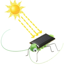 New Educational Solar powered Grasshopper Toy Gadget Model Solar Toy Children Outside Toy Kids Educational Toy Gifts(China)